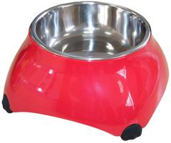Миска меламиновая для собак высокая  160 мл малиновая new, SuperDesign