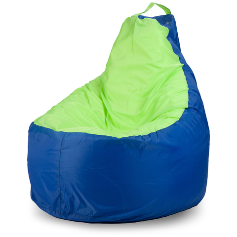Бескаркасное кресло «Комфорт», Синий и лайм