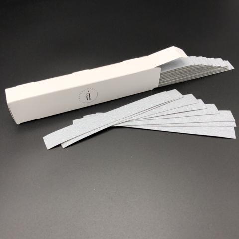 Сменные файлы 155*18 мм для основы L - 240 грит СЕРЫЕ (50 штук)