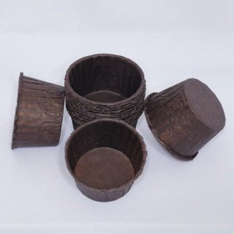 Капсулы для капкейков усиленные,  коричневые, 50х30 мм, 100 шт