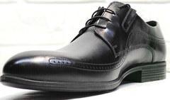 Стильные мужские туфли броги Ikoc 3416-1 Black Leather.