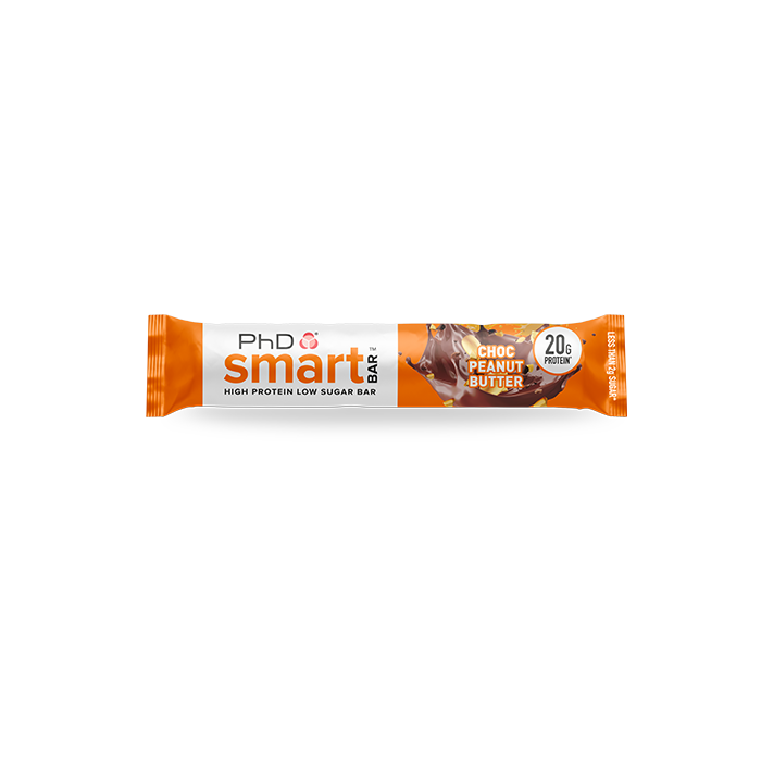 PhD Smart Bar, протеиновый батончик, вкус Шоколад/Арахисовое масло, упаковка 12х64 гр.