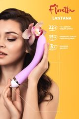 Фиолетовый вибратор Lantana - 22 см. -