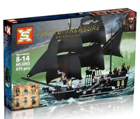 Конструктор Пираты Pirates of the Caribbeans Черная Жемчужина 6002, 875 дет.