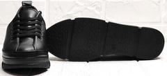 Женские кожаные туфли кроссовки на толстой подошве Mario Muzi 1350-20 Black.