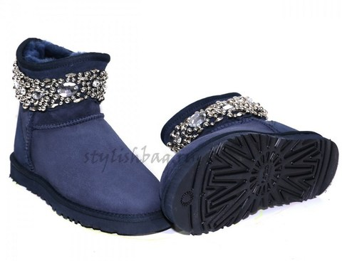Женские угги UGG Jimmy Choo Multicrystal Navy