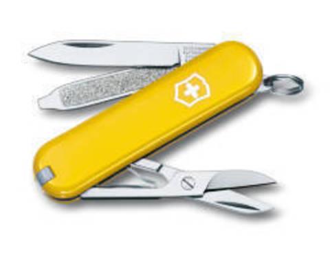 Нож-брелок Victorinox Classic, 58 мм, 7 функций, желтый123