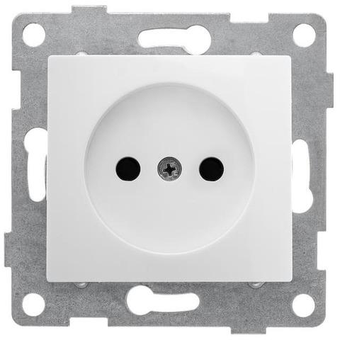 Розетка электрическая 2К без заземления с защитными шторками, 16 А 220/250 В~. Цвет Белый. Bravo GUSI Electric. С10Р2-001