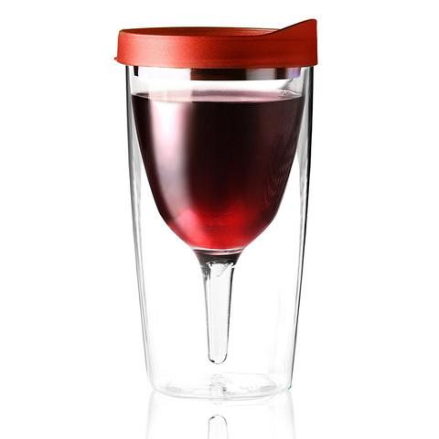 Бокал Asobu Vino 2 go (0,3 литра), красный