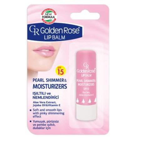Golden Rose Бальзам для губ Lipbalm PEARL SHIMMER & MOISTURISERS SPF15