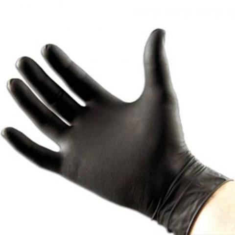 Перчатки парикмахерские черные 100 штук. Размер M