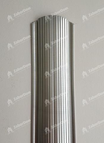 Евроштакетник металлический 110 мм цинк фигурный 0.5 мм