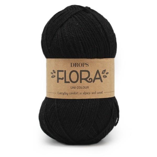 Пряжа Drops Flora 06 черный