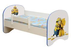 Кровать детская с фотопечатью Миньоны 004