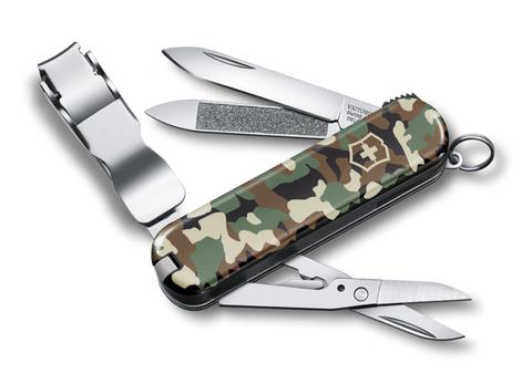 Нож Victorinox Classic Nail Clip 580, 65 мм, 8 функций, камуфляж