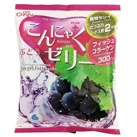 Желе конняку со вкусом винограда Yukiguni Aguri 108 г