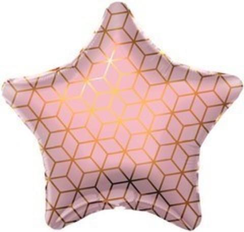 Р Звезда, Геометрия, Розовый, 19