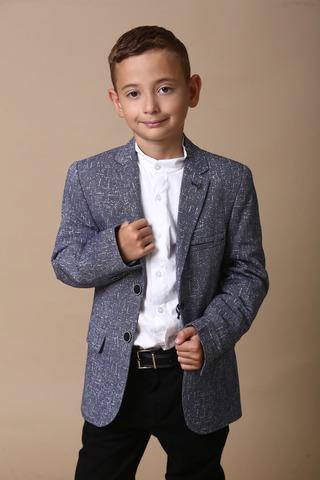 Пиджак для мальчика, меланж воротник стойка Viktor ENZO Турция, 5095 (122-146)