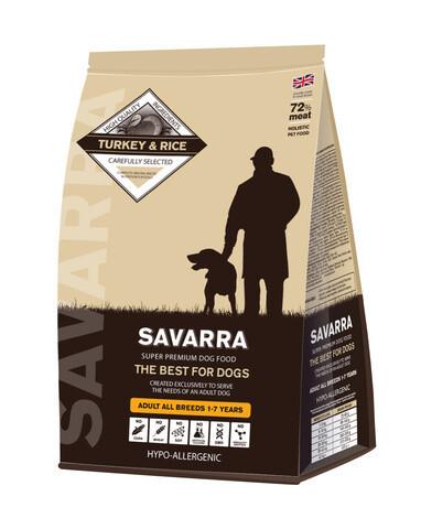 Купить Savarra Adult All Breeds Dogs Turkey Сухой корм для взрослых собак всех пород с индейкой