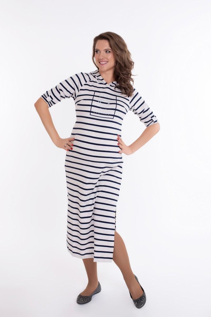 Платье для беременных 09084 бежевый