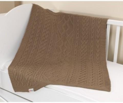 Плед вязанный U14-18, 95*120 см, состав: 100% акрил (коричневый)