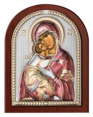 Серебряная икона Божья Матерь Владимирская
