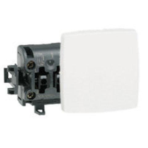 Выключатель одноклавишный Переключатель на два направления- 10 AX - 250 В~. Цвет Белый. Legrand Oteo (Легранд Отео). 086101