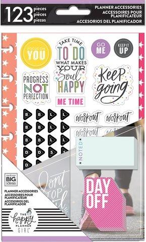 Внутренний блок для ежедневника Happy Planner Mini - Accessories 123шт-Healthy Hero