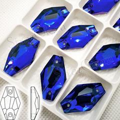 Купите стразы пришивные оптом Sapphire, Hexagon