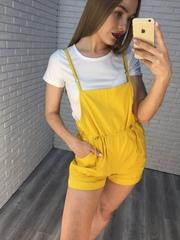 Комбинезон с шортами желтый Nadya