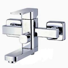Купить квадратный смеситель для ванной Zegor LEB-3-A123