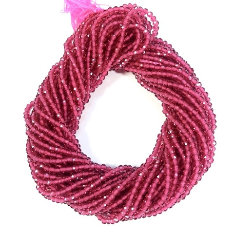 Бусины шпинель (имитация) граненая 2 мм цвет малиновый цена за 185 бусин (~37 см)