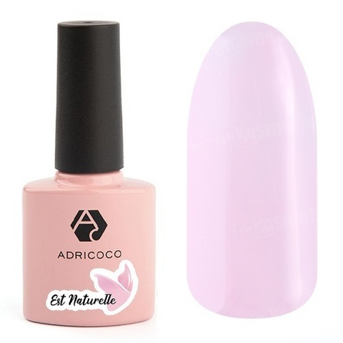 Гель-лак ADRICOCO Est Naturelle №16 камуфлирующий светло-розовый(8 мл.)