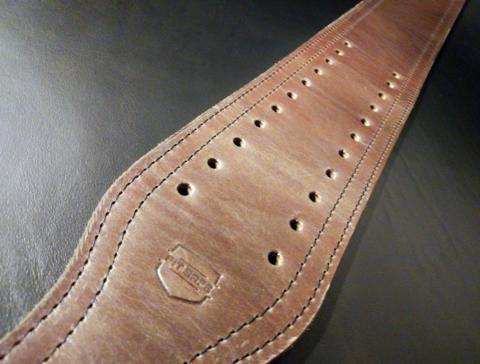 пояс для пауэрлифтинга с удобной пряжкой-зацепом (коричневый) ширина