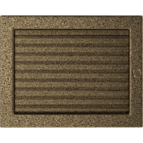 Вентиляционная решетка Черная/Золото с задвижкой (22*30) 22/30CZX