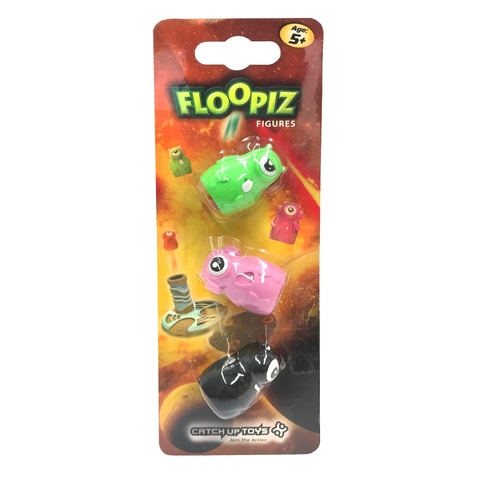 Доп. набор CATCHUP TOYS FP-002F-KPD Floopiz Figures (Black, Pink, Green)