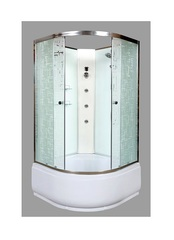 Душевая кабина DETO ЕМ4510 N 100х100 см с гидромассажем
