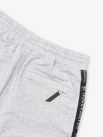 Спортивные штаны «Великоросс»  цвета серый меланж. Лёгкий футер