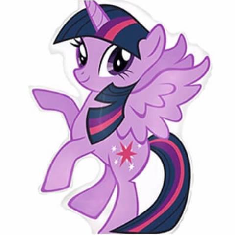 Фигура фольга 'Пони' фиолетовый