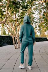 Спортивный костюм флисовый зеленый недорого