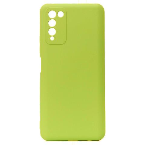 Чехол для Huawei Honor 10X Lite Софт тач мягкий эффект   микрофибра светло-зеленый