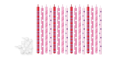 Свечи для торта с подставками Tescoma DELICIA KIDS 12 см, 16 шт.
