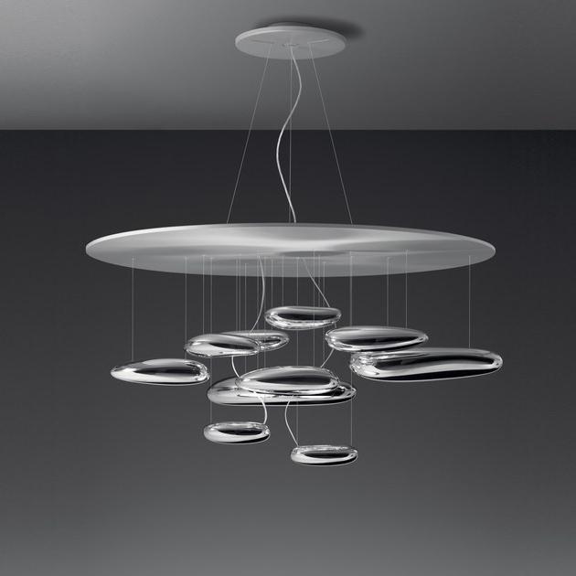 Подвесной светильник копия Mercury by Artemide (10 плафонов)