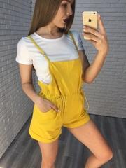 Комбинезон с шортами желтый недорого