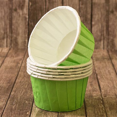 Капсулы для капкейков, усиленные, светло-зеленые, 20шт