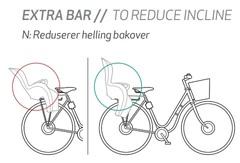 Штанга для уменьшения угла наклона велокресла Hamax Extra Bar To Reduce Incline (Kiss/Sleepy/Smiley) - 2