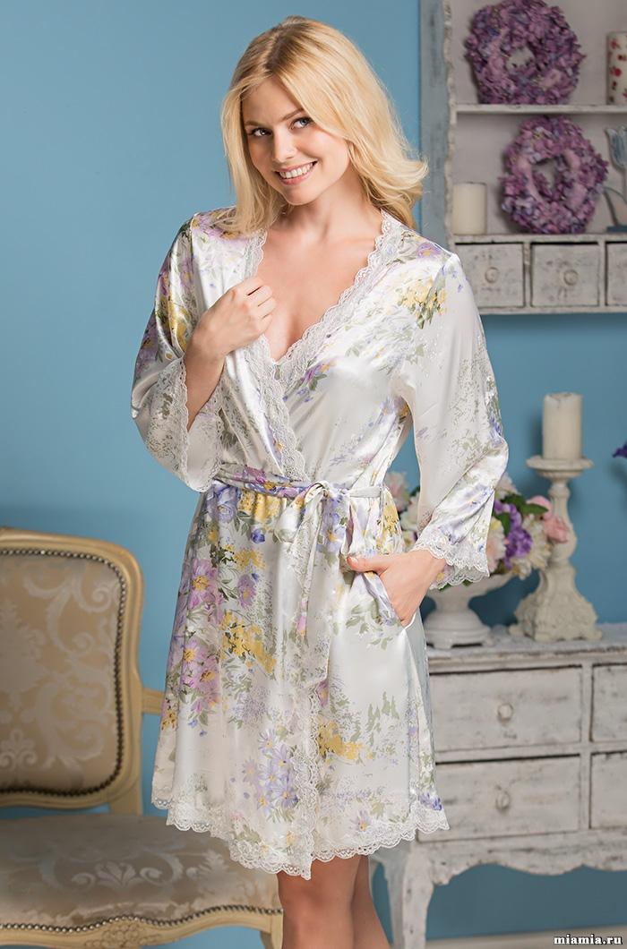 Шелковые халаты Короткий халат женский MIA-AMORE Lilianna  5993 5993.jpg