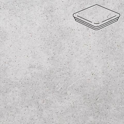 Stroeher - Keraplatte Roccia 837 marmos 345x345x12 артикул 9331 - Угловая клинкерная ступень - флорентинер
