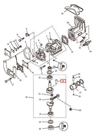 Палец  для лодочного мотора T2,5 SEA-PRO (2-20)