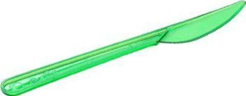 Пластиковый Нож 18 см зеленый (прозр) одноразовый